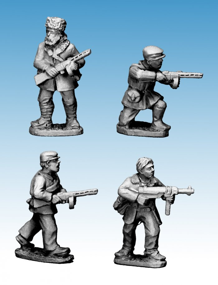 Partisans with submachine guns (Crusader Miniatures)