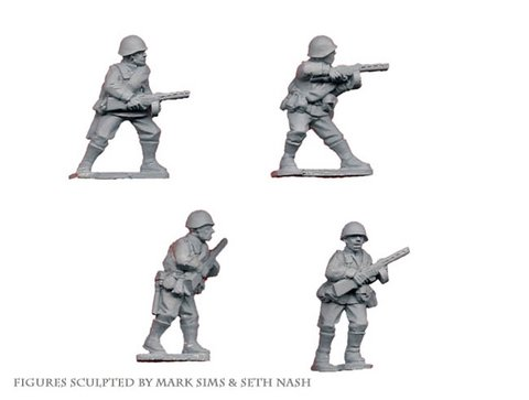 Soviet Infantry with SMG's (Crusader Miniatures)