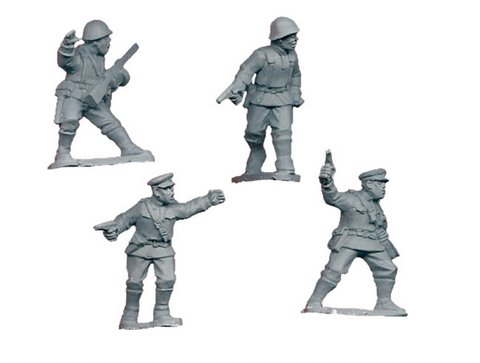 Soviet Infantry Command (Crusader Miniatures)