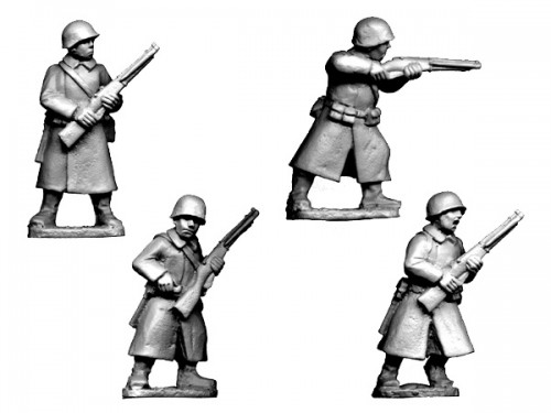 Soviet Infantry in Greatcoats II (Crusader Miniatures)