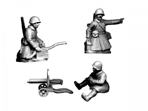 Soviet HMG Team in Greatcoats (Crusader Miniatures)