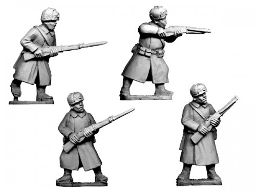 Soviet Infantry in Greatcoats and Fur Hats (Crusader Miniatures)