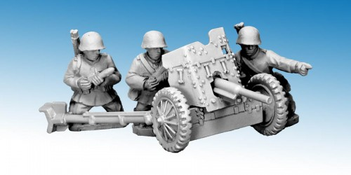 Soviet 45mm AT Gun (53-K) and Crew (Crusader Miniatures)